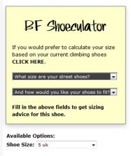 shoe calculator